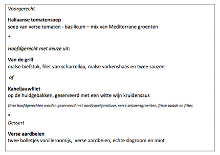 Parel menu voor Eastermarders